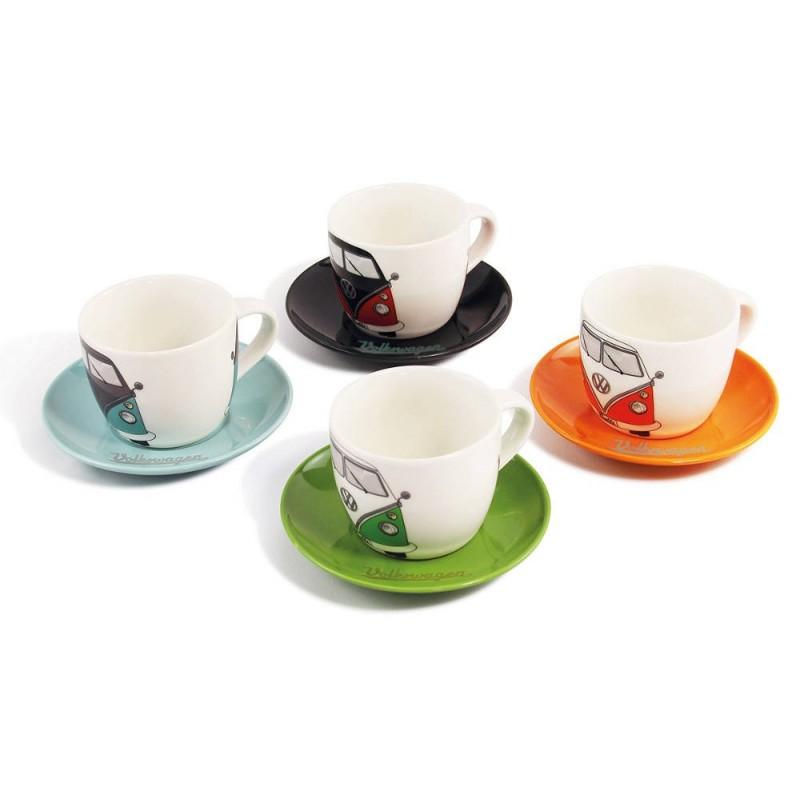 Service à café expresso en porcelaine combi split