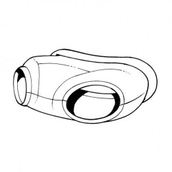 Joint housse claxon Karmann-Ghia de 1956 à 1974