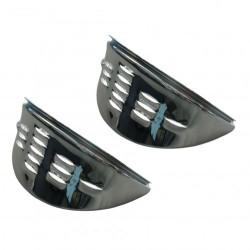 Casquettes phare avec louvres chromé
