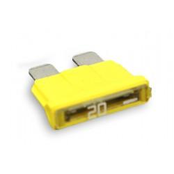 Fusible plat 20 ampères jaune