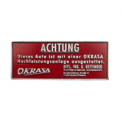 Plaquette tableau bord Okrasa