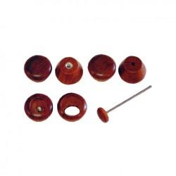 Bouton bois de rose tableau de bord Flat4 jusqu'en 1967 6 pièces