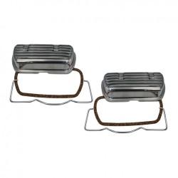Cache culbuteurs aluminium avec clips