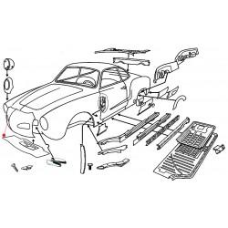 Panneau avant Karmann-Ghia de 1959 jusqu'en 1974
