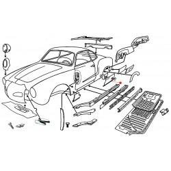 Bas de caisse arrière gauche Karmann-Ghia