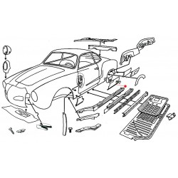 Bas de caisse arrière droite Karmann-Ghia