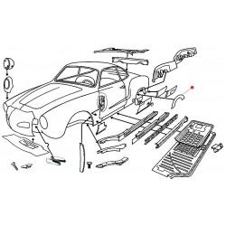 Passage de roue arrière gauche/droite Karmann-Ghia