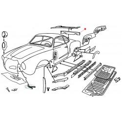 Bas de caisse arrière Karmann-Ghia