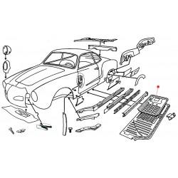 1/4 châssis gauche Karmann Ghia