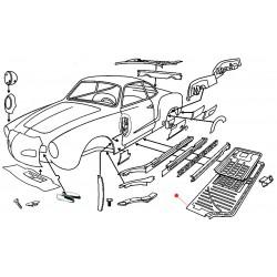 Demi châssis droit Karmann-Ghia