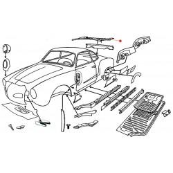 Tôle arrière moteur Karmann-Ghia
