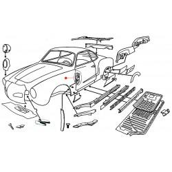 Fixation charnière porte gauche Karmann Ghia