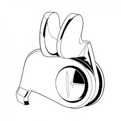 Loquet de vitre coulissante droit pour combi split