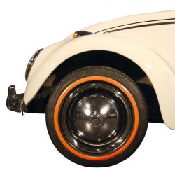 """Flanc orange étroit pour pneu 15"""" 1 pièce"""
