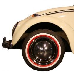 """Flanc blanc/rouge étroit pour pneu 15"""""""