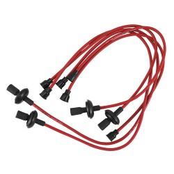 Câbles de bougies cuivre rouges 7 mm