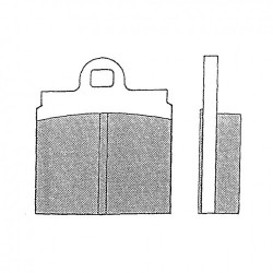 4 Plaquettes frein carrés 1 trou jusqu'en 1972