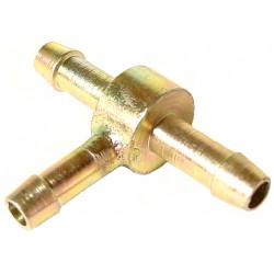 Raccord d'essence métallique en T diamètre 6mm