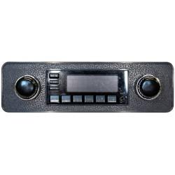 kit facade noire embases de boutons chromées boutons noirs pour cox de 1968 à 1985