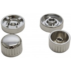 kit boutons pour autoradio Retrosound chromé chromé
