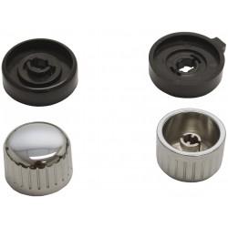 kit boutons pour autoradio Retrosound noir chromé