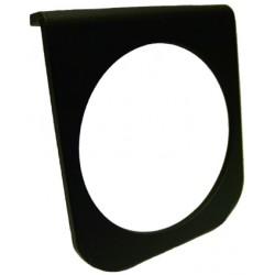 support noir sous tableau de bord de manomètre diamètre 67mm 1 trou