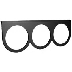 support noir sous tableau de bord de manomètre diamètre 67mm 3 trous