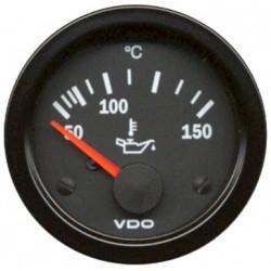 Manomètre température huile 50-150° diamètre 52mm VDO