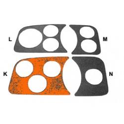 couvre tableau de bord chromé gauche 3 trous