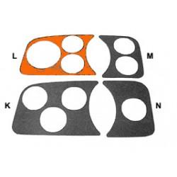 Couvre tableau de bord noir gauche 3 trous compte-tours 80mm
