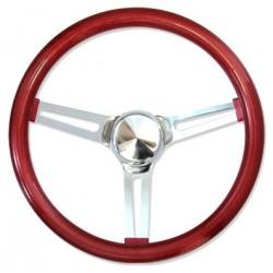 Volant MOON METAL FLAKE rouge 3 doubles branches diamètre 13,5''