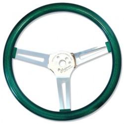 Volant MOON METAL FLAKE vert 3 doubles branches diamètre 13,5''