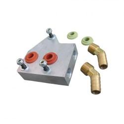 Adaptateur radiateur huile double