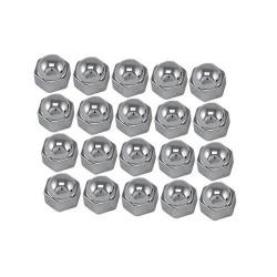 Cache boulons chrome 20 pièces 19 mm
