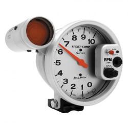 Compte-tours Autometer 125 mm silver 10000 RPM S.L