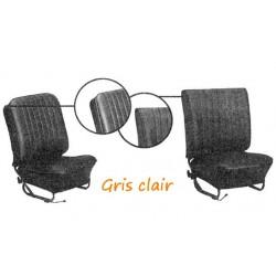 Housses sièges cabriolet Gris-Clair Lisse de 1958 à 1964 Tmi