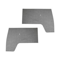 Panneaux de porte avant PVC gris par paire Combi split