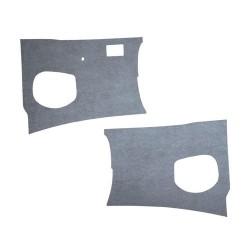 Panneaux plastiquex gris devant les pieds Combi split de 1955 à 1960