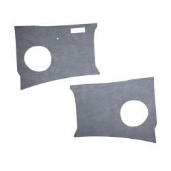 Panneaux plastiquex gris devant les pieds Combi split de 1960 à 1963