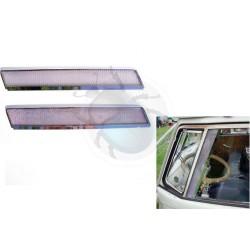 Visière vitre porte chrome jusqu'en 1967 la paire