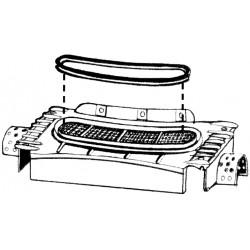 Joint boitier ventilation grille capot