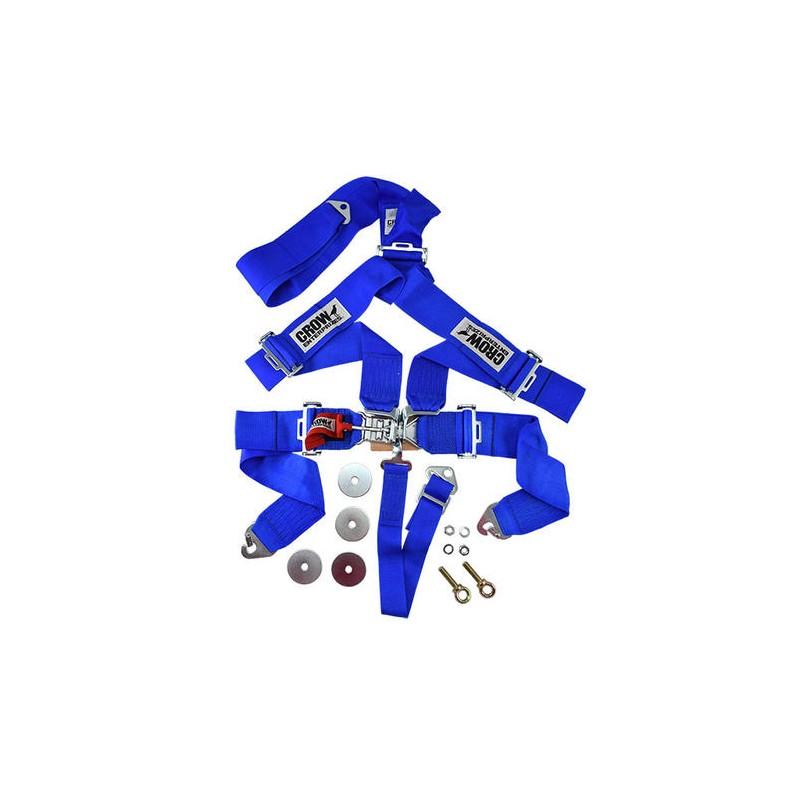 Ceinture securité 5 points bleu CROW Bleu