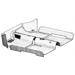 Kit tapis Cox cabriolet 1958 à 1969 noir