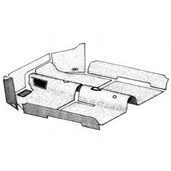 Kit tapis Cox cabriolet 1970 à 1972 noir