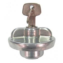 Bouchon essence avec clés fermeture quart de tour métal