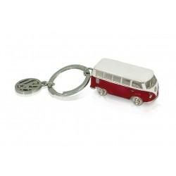 Portes-clés avec design de la légendaire VW Combi T1 3D rouge
