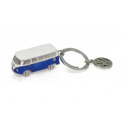 Portes-clés avec design de la légendaire VW Combi T1 3D bleu