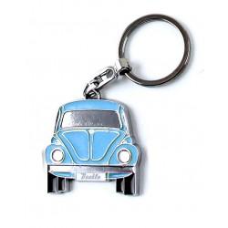 Portes-clés avec design de la légendaire VW Coccinelle bleu