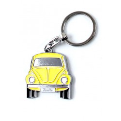 Portes-clés avec design de la légendaire VW Coccinelle jaune