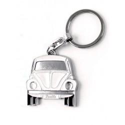 Portes-clés avec design de la légendaire VW Coccinelle blanc